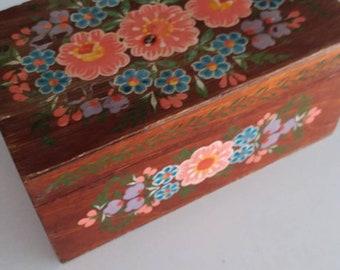 Vintage jewelry boxes -trinket box- jewelry box- wood box- wooden boxes