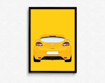 Renault Megane RS A3 Print