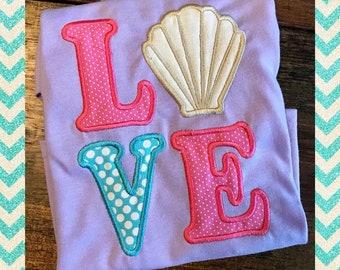 Summer LOVE Seashell shirt