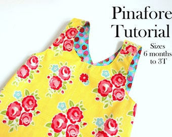 Tutorial for Reversible Dress, Pinafore Dress Tutorial, PDF Pattern, Sewing Pattern With Instructions, Sew Your Own, Baby Dress Pattern