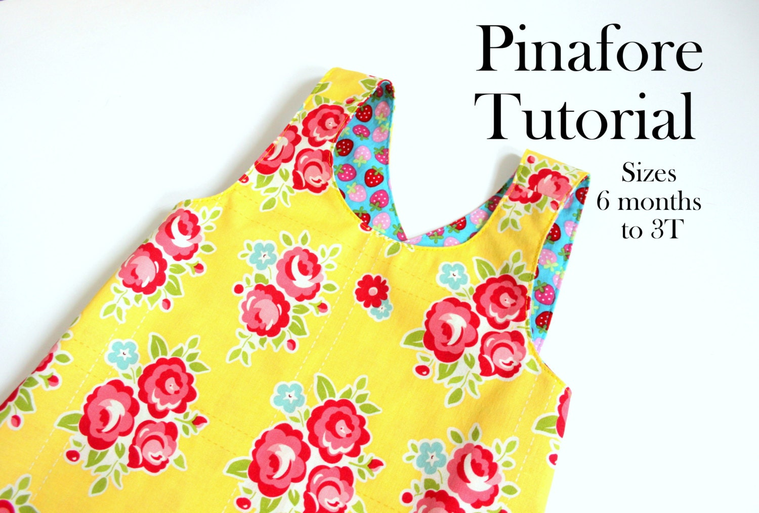 Tutorial for Reversible Dress, Pinafore Dress Tutorial, PDF Pattern ...