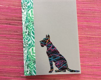 Great Dane Doggy Tales Notebook in Liberty London Art Fabric
