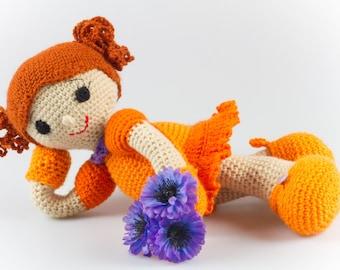 Crochet Doll Pattern Amigurumi Girl Pattern Crochet Girl Pattern Crochet Baby Toy Amigurumi Doll Casey Crochet Toy Pattern Easy Crochet P030