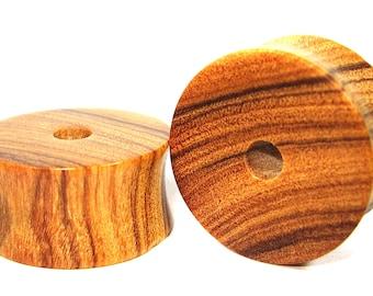 Olive wood Flat Ear Tunnel 01 Handmade Gauges/Stretchers/Custom Made Ear Tunnels sizes10mm-40mm