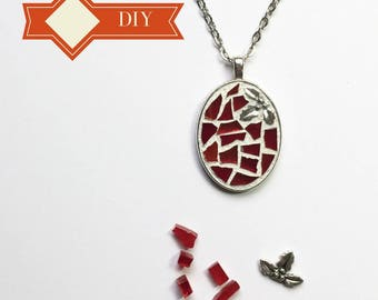Diy holiday etsy diy holiday gift teenage girl gift pendant necklace kit do it yourself craft solutioingenieria Choice Image