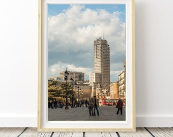 Madrid Plaza España Sunset. Landscapes of Spain. Printable image for download. From Spain with Love