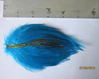 "Rooster Hackle Feather Mini Pad 5"" long for hair accessories or other projects"