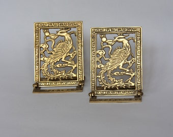 Antique Brass Pheasant Bookends