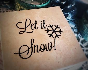 Let it Snow  coaster (set of 4)