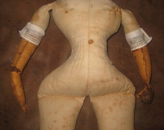 Antique Cloth Doll Body for China Head Doll