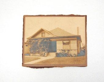 Vintage House Photo Home Antique Architectural Photography Sepia Photograph