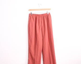 Burnt Sienna 90s Casual Pants