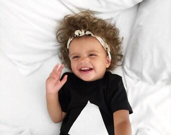 Black and White Triangle Kid Tee