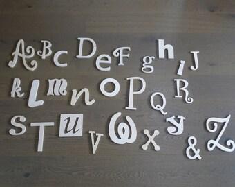 Wooden ABC Set, Room Decor, Wooden alphabet Set, Wall Decor - UNPAINTED