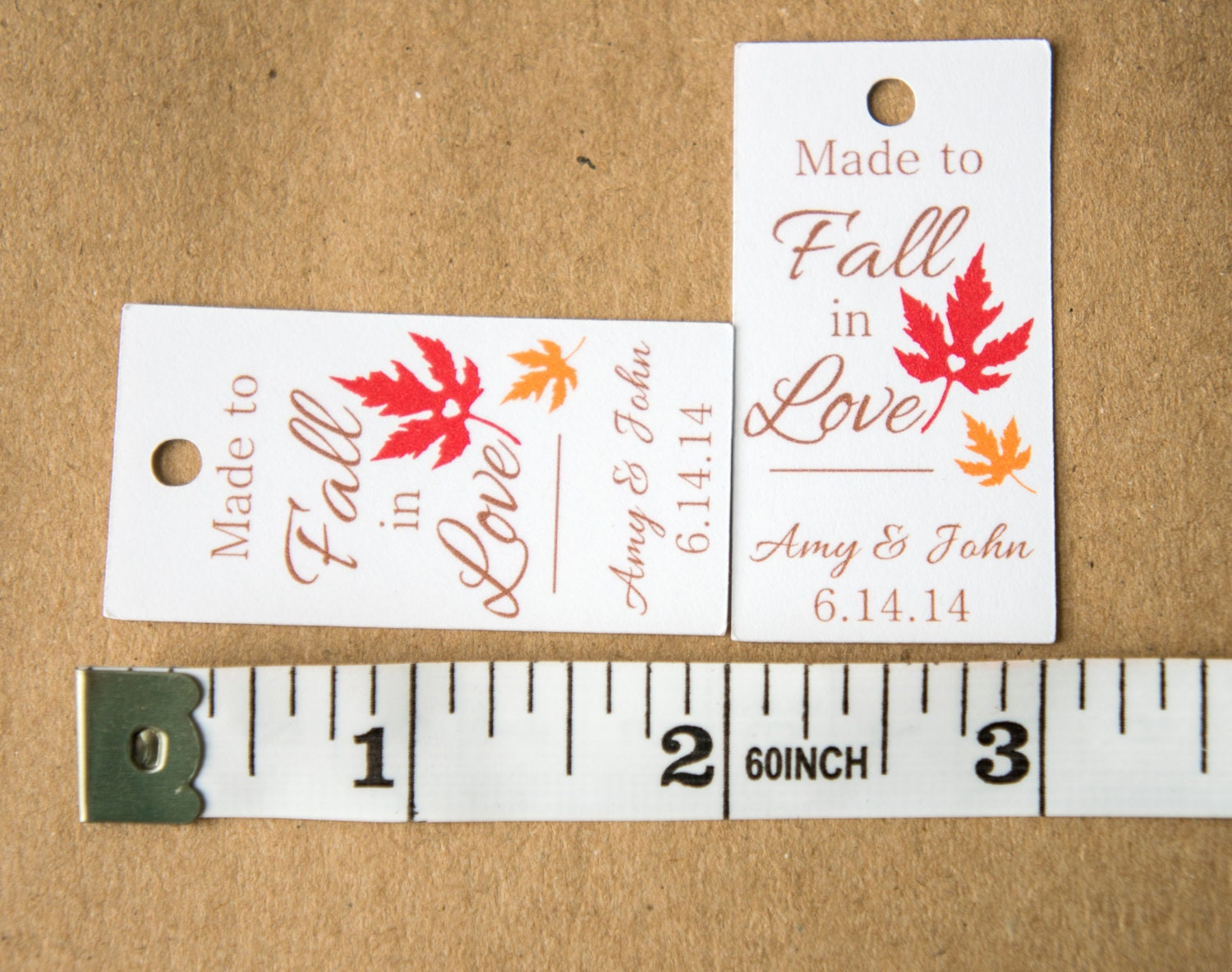 Made to Fall in Love Wedding Favor Tags, Fall Wedding Favor Tag ...