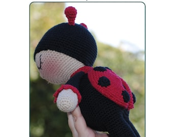 Amigurumi pattern - ladybug crochet pattern - Amigurumi animal - Pdf download - Pattern Pdf - Softy ladybug - crochet amigurumi pattern