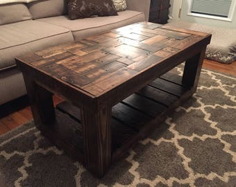 Bon Wood Pallet Puzzle Pieced Coffee Table