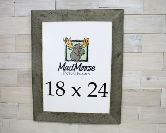 18x24 BarnWood Thin x 3 Picture Frame . . tags: barn