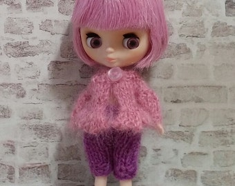 pdf knitting pattern - Petite Blythe puff sleeved cardigan.