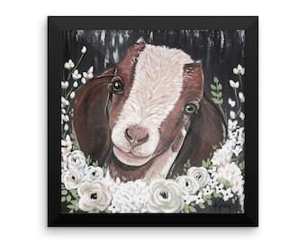 Rosie the Goat -Framed matte print