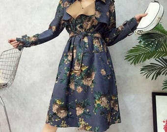 Ornate Floral Trench Coat in 3 Unique Styles
