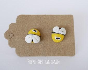 Fimo Little bees lobe Bee Earrings