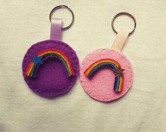 Rainbow keychain