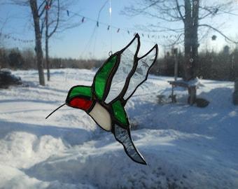 hummer stained glass suncatcher