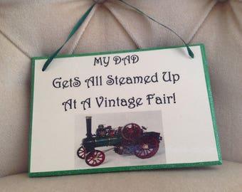 Vintage -Steam Fair -Dad