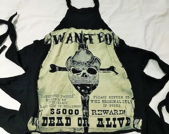 Lip Service Ghost Town Wanted strap halter tank top RARE