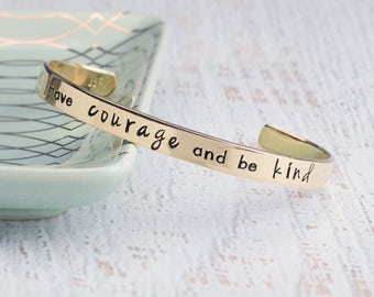 Have Courage and Be Kind Bracelet, Inspiration Bracelet, Inspiration Jewelry, Graduation Gift, Gift for Girl, Gift for Teen Affirmation