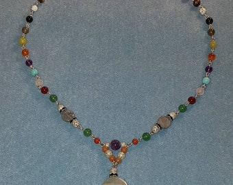 Chakra Necklace with Mighty Labradorite gemstone