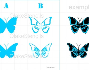 OLA020 Butterfly - two layers stencil