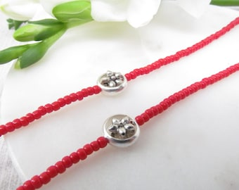 Red Eyeglass Chain - Beaded Reading Glasses Chain - Red Glasses Chain - Beaded Eyeglass Leash - Eye Glasses Chain - Glasses Necklace