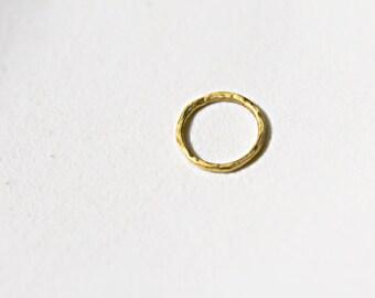 24k solid gold circle charm