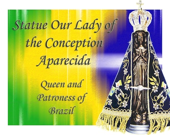 Our Lady of the Conception Aparecida resin statue Original crown