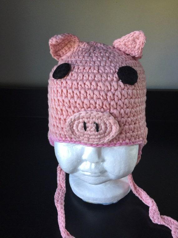 Schwein häkelhut stricken Schwein Hut Hut stricken rosa