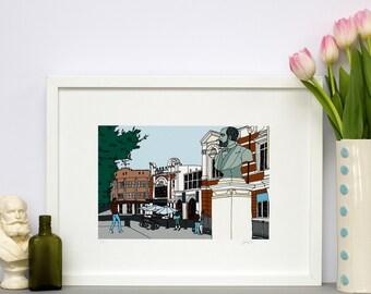 Brixton Square Poster Print