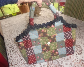 handmade small bag 34 x 26 cm patchwork