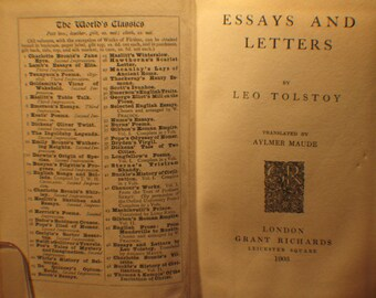Essays and Letters by Leo Tolstoy, 1903