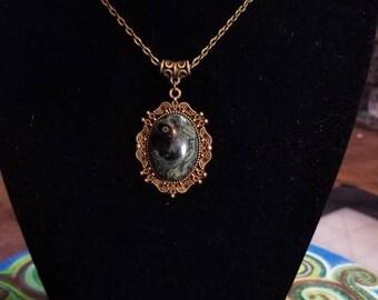"""18"""" Kambaba Jasper cabochon necklace"""