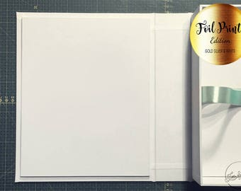 """FOIL 8""""x10"""" Proof Box, Presentation Box, Heirloom Box /Photographer Photo Packaging or Gift Box/"""