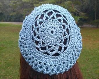 PDF CROCHET PATTERN Women's slouchy beret - lace beret
