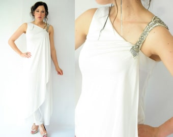 Grecian Goddess White Dress