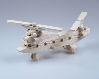 Helicopter made from wood, wooden toy, kid, educate, learn, moving propeller, child toy, toddler toy, creative, wood toy, build, play, fun