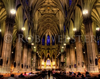 St. Patrick's Cathedral, Interior, New York City,  8x10 HDR Fine Art Photo Print