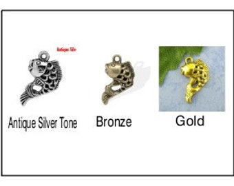 5 - Silver/Bronze/Gold Fish Charms