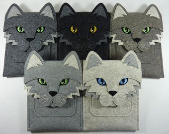 Cat iPad pro 12.9 and 9.7 inch felt case