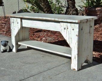 Indoor Bench, Rustic Bench, Entry Bench, Farmhouse Bench, Wooden Bench, Farmhouse Furniture, Entryway Bench, Mudroom Bench, Shoe Organizer