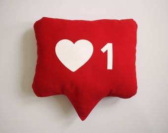 Instagram Heart Notification Pillow // Heart Pillow // Instagram Prop // Instagram Sign // Photo Booth Prop // Home Decor // Love Pillow
